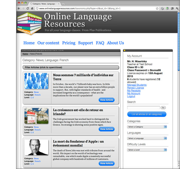 Online Language Resources