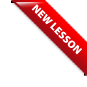 New Lesson ribbon
